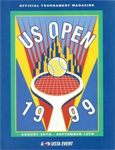 1999 U.S. Open tennis program (Andre Agassi & Serena Williams)