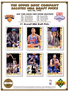 1992 Upper Deck NBA Draft card sheet (David Robinson) ltd edit 7000