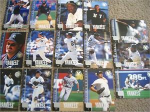 1998 New York Yankees Upper Deck 15 jumbo card set (Derek Jeter Andy Pettitte Mariano Rivera)