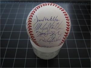 1998 New York Yankees team autographed World Series baseball Derek Jeter Tino Martinez Paul O'Neill Mariano Rivera Joe Torre (Steiner)