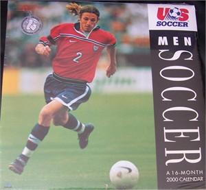 2000 U.S. Soccer calendar (Frankie Hejduk cover) MINT & SEALED