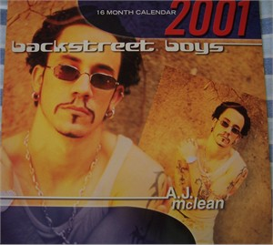 A.J. McLean Backstreet Boys 2001 16 month calendar