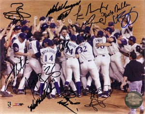 2001 Arizona Diamondbacks team autographed 8x10 World Series photo Luis Gonzalez Mark Grace Curt Schilling Matt Williams
