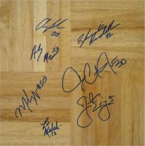 2002-03 Duke Blue Devils ACC Champions team autographed floor Daniel Ewing Dahntay Jones Shavlik Randolph