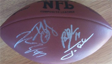 2002 Tampa Bay Buccaneers autographed NFL football (Jon Gruden Brad Johnson Brian Kelly John Lynch)