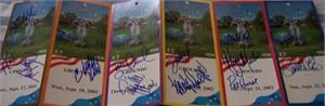 2002 U.S. Solheim Cup Team autographed ticket strip (Beth Daniel Juli Inkster Cristie Kerr Patty Sheehan)