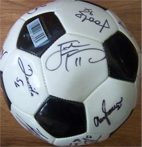 2003 WUSA San Diego Spirit team autographed soccer ball (Julie Foudy Shannon MacMillan)