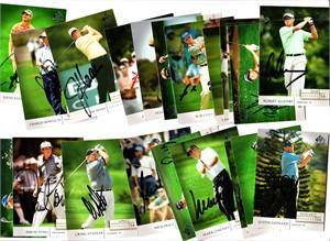 21 autographed 2004 SP Signature PGA Tour golf cards Justin Leonard Mark O'Meara Nick Price Craig Stadler David Toms Mike Weir