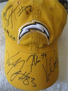 2005 San Diego Chargers autographed cap or hat (Vincent Jackson Shawne Merriman)