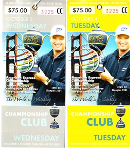 2005 WGC American Express Championship practice round tickets (Ernie Els)