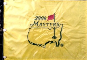 2006 Masters golf pin flag (Phil Mickelson wins second green jacket)