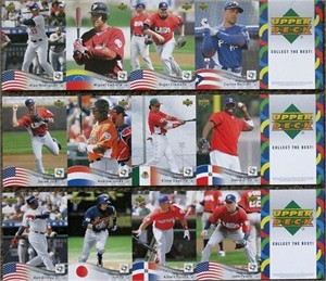2006 World Baseball Classic Upper Deck 12 promo card set (Miguel Cabrera Ken Griffey Jr. Derek Jeter Albert Pujols Ichiro Suzuki)
