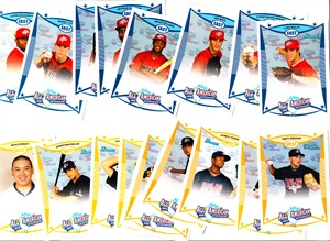 2008 AFLAC Bowman Rookie Card partial set (Ian Krol David Nick Keyvius Sampson)