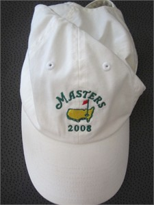 2008 Masters white golf cap or hat