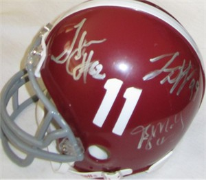 2009 Alabama autographed mini helmet (Greg McElroy Javier Arenas Terrence Cody Kareem Jackson Dre Kirkpatrick Leigh Tiffin)