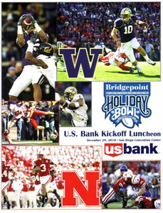 2010 Holiday Bowl Washington vs Nebraska lunch program (Jake Locker Chris Polk)