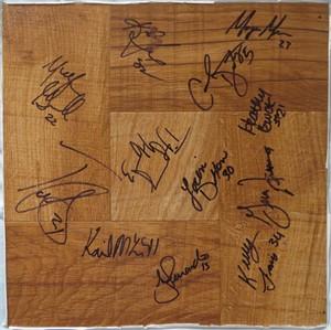 2010 UConn Women's Basketball NCAA National Champions team autographed floor (Geno Auriemma Tina Charles Tiffany Hayes Maya Moore)