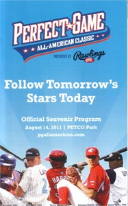 2011 Perfect Game High School All-American Classic baseball program (Albert Almora Carlos Correa Lucas Giolito)