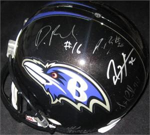 2012 Baltimore Ravens Super Bowl 47 Champions team autographed full size helmet Ray Lewis John Harbaugh Haloti Ngata (JSA)