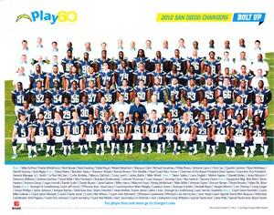 2012 San Diego Chargers 8x10 team photo (Ryan Mathews Philip Rivers)