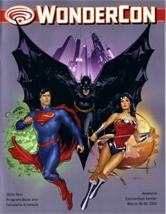 2012 Wondercon program magazine (Batman Superman Wonder Woman DC Comics)