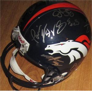 2013 Denver Broncos AFC Champions team autographed full size helmet (C.J. Anderson Ronnie Hillman Von Miller Derek Wolfe)