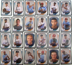 2013 Perfect Game Bowman autographed partial Rookie Card set (Brady Aiken Derek Hill Grant Holmes Alex Jackson Kodi Medeiros)