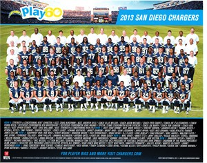 2013 San Diego Chargers 8x10 team photo (Keenan Allen Philip Rivers Manti Te'o) MINT