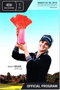 2014 LPGA Kia Classic golf program (Beatriz Recari cover)