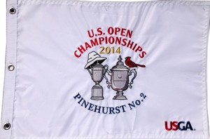 2014 U.S. Open & U.S. Women's Open Pinehurst No. 2 embroidered golf pin flag (Martin Kaymer & Michelle Wie win)