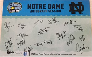 2014-15 Notre Dame Women's Basketball NCAA Final Four Team autographed poster (Lindsay Allen Jewell Loyd Muffet McGraw)