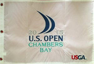 2015 U.S. Open Chambers Bay embroidered golf pin flag (Jordan Spieth wins 2nd major)