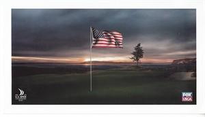 2015 U.S. Open Chambers Bay golf course USGA 6x11 photo card (Jordan Spieth wins 2nd major)