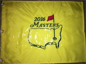 2016 Masters golf pin flag (Danny Willett wins first major title)