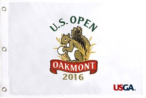 2016 U.S. Open Oakmont embroidered golf pin flag (Dustin Johnson wins 1st major)