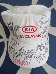 2016 LPGA Kia Classic golf cap or hat autographed by 16 (Sandra Gal Cristie Kerr Lydia Ko Inbee Park Alexis Thompson Karrie Webb Michelle Wie)