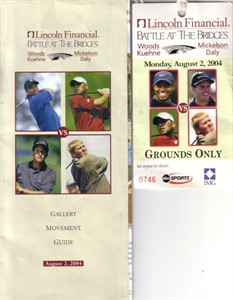 2004 Battle At The Bridges ticket & gallery guide (Tiger Woods Phil Mickelson)
