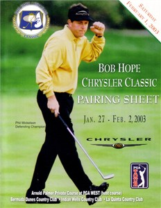 Phil Mickelson 2003 Bob Hope Chrysler Classic pairings guide