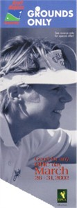 2002 LPGA Kraft Nabisco Championship ticket stub (Annika Sorenstam win)