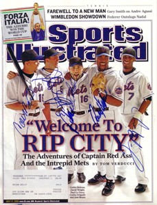 2006 New York Mets autographed Sports Illustrated (Carlos Beltran Carlos Delgado Paul Lo Duca Jose Reyes David Wright)
