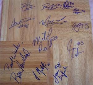 2008-09 UCLA Bruins team autographed floor (Ben Howland Darren Collison Josh Shipp)