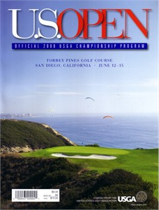 2008 U.S. Open golf program (Tiger Woods wins 14th major)
