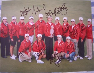 2009 U.S. Solheim Cup Team autographed 11x14 photo (Paula Creamer Beth Daniel Natalie Gulbis Michelle Wie)