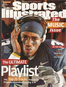 Wali Lundy 2004 Virginia Cavaliers Sports Illustrated on Campus magazine