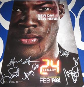 24 Legacy cast autographed 2016 Comic-Con poster (Miranda Otto Jimmy Smits)