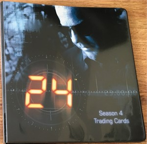 24 Season 4 trading card ArtBox album or binder (Kiefer Sutherland)