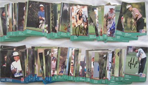 Partial set of 158 autographed 1991 Pro Set PGA Tour golf cards George Archer Gay Brewer Fred Couples John Daly Gary Player Tom Watson