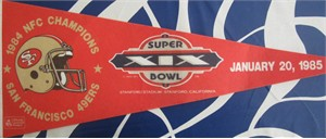 San Francisco 49ers 1984 NFC Champions Super Bowl 19 pennant