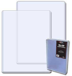 9x12 inch photo topload plastic display holders (pack of 20)