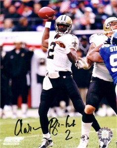 Aaron Brooks autographed 8x10 New Orleans Saints photo
